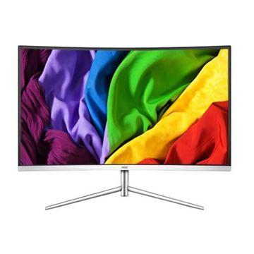 图片 AOC C32V1 (AOC显示器 C32V1QWS 31.5英寸曲面显示屏1080P全高清 爱眼不闪屏电竞游戏液晶电脑显示器(白色))